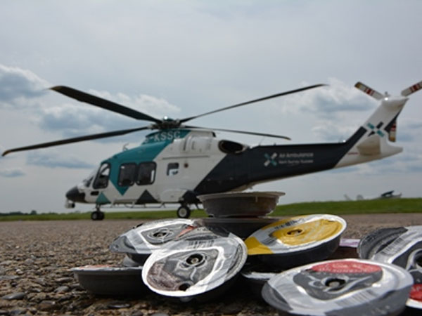 AAKSS Helicopter with Recycled Coffee Pods