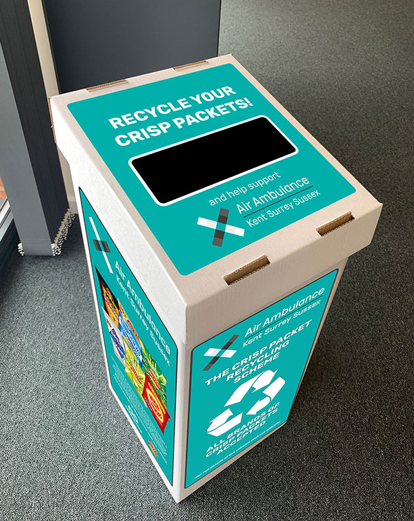 Crisp Packet Recycling Box