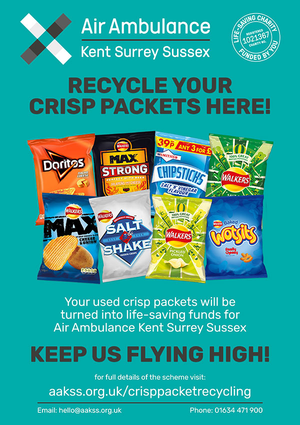 Downloadable Crisp Packet Recycling Poster