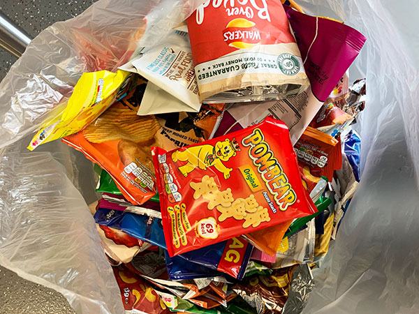Send your collected packets directly to Terracycle.