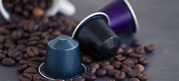 Tassimo and L'OR Nespresso coffee pods.