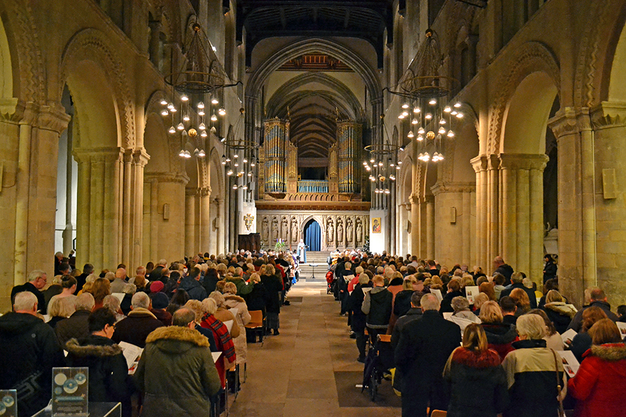 The inaugural Air Ambulance Kent Surrey Sussex (AAKSS) carol concert at Rochester Cathedral