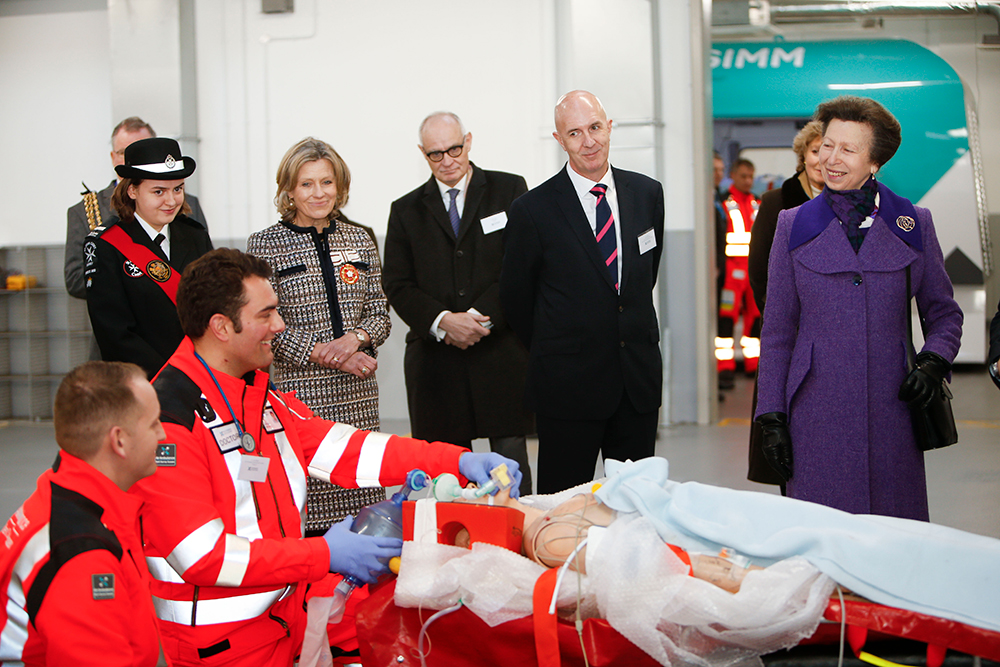 The Princess Royal observes a Moulage