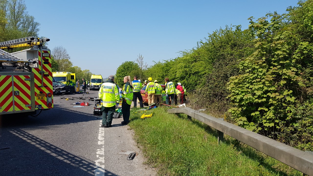 The scene at Nichola's accident, 2019